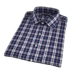 Vincent Slate and Pink Plaid Short Sleeve Shirt