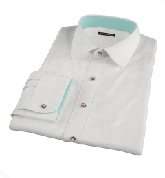 White Heavy Oxford Cloth Custom Made Shirt