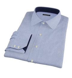 Carmine Dark Blue Pencil Stripe Custom Made Shirt
