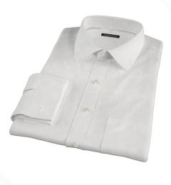 White Wrinkle Resistant Cavalry Twill Custom Made Shirt