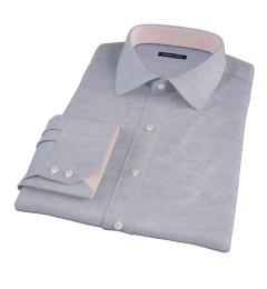 Grey Melange Corduroy Tailor Made Shirt