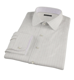 Light Pink Satin Stripe Custom Dress Shirt