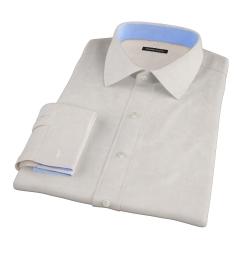 Canclini Tan Linen Custom Made Shirt