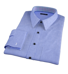 Stanton 120s Blue End-on-End Men's Dress Shirt