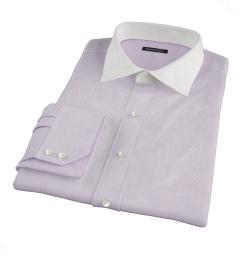 Canclini Purple Fine Stripe Tailor Made Shirt