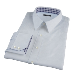 Bowery Light Blue Wrinkle-Resistant Pinpoint Custom Made Shirt