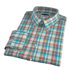 Dorado Aqua Plaid Tailor Made Shirt