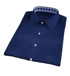 Canclini Blue Casual Chevron Jacquard Short Sleeve Shirt