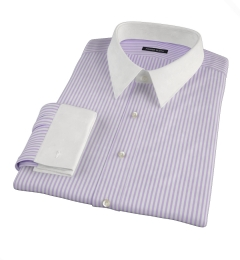 Canclini Stetch Purple Bengal Stripe Custom Dress Shirt