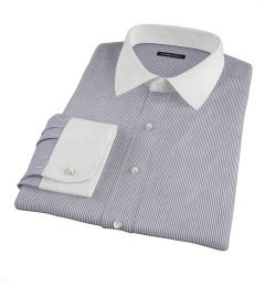 Carmine Black Pencil Stripe Men's Dress Shirt