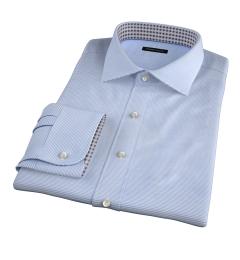 Carmine Light Blue Horizontal Stripe Dress Shirt