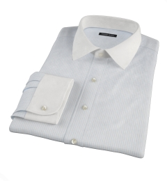 Mercer Light Blue Medium Grid Tailor Made Shirt
