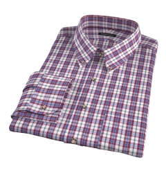 Siena Red and Green Multi Check Custom Dress Shirt