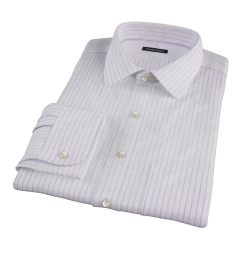 Albini Lavender Satin Stripe Tailor Made Shirt