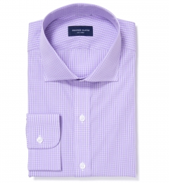 Waverly Lavender Check Custom Dress Shirt