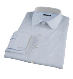 Light Blue 100s Twill Fitted Dress Shirt