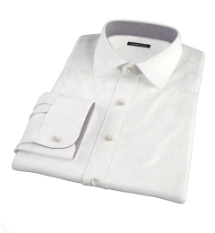 Franklin White Wrinkle-Resistant Lightweight Twill Dress Shirt