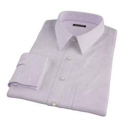 Canclini Purple Fine Stripe Fitted Dress Shirt