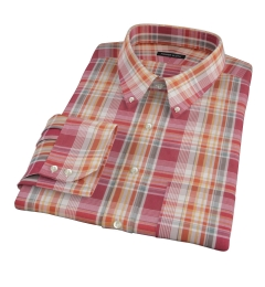 Canclini 120s Red Yellow Madras Custom Made Shirt