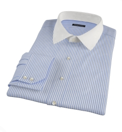 140s Wrinkle Resistant Dark Blue Bengal Stripe Dress Shirt