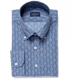 Katazome Faded Arrow Print Men's Dress Shirt