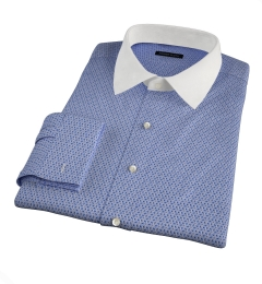 Granada Blue Print Dress Shirt