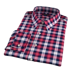 Cascade Scarlet Plaid Flannel Men's Dress Shirt