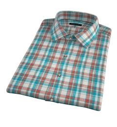 Dorado Aqua Plaid Short Sleeve Shirt