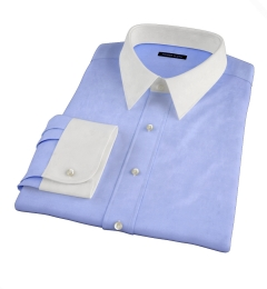 Thomas Mason Periwinkle Wrinkle-Resistant Twill Custom Dress Shirt