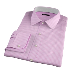 Chambers Pink Wrinkle-Resistant Check Fitted Dress Shirt