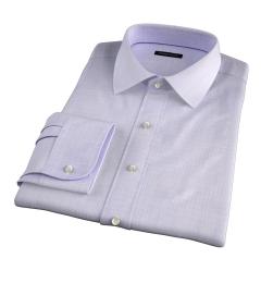 Lazio 120s Lavender Multi Grid Fitted Shirt
