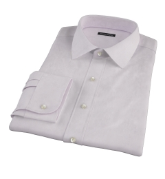Canclini Lavender Fine Twill Fitted Dress Shirt