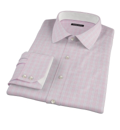 Canclini Red Multi Grid Fitted Shirt