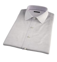 Portuguese Beige Cotton Linen Herringbone Short Sleeve Shirt