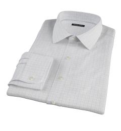 Mercer Blue Twill Check Custom Made Shirt