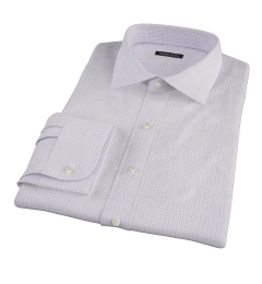 Albini Lavender Tatersall Custom Made Shirt