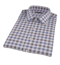 Vincent White Navy Red Plaid Short Sleeve Shirt
