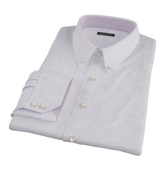 Purple Thin Stripe Heavy Oxford Fitted Shirt