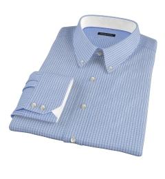 Blue Regis Check Men's Dress Shirt