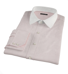 Canclini Pink End on End Custom Made Shirt