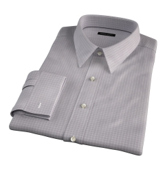 Canclini 140s Grey Box Check Tailor Made Shirt
