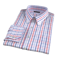 Catskill 100s Crimson Multi Check Custom Dress Shirt