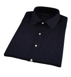 Black 100s Broadcloth Short Sleeve Shirt