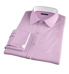Chambers Pink Wrinkle-Resistant Check Fitted Shirt