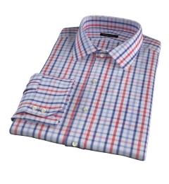 Catskill 100s Crimson Multi Check Custom Made Shirt