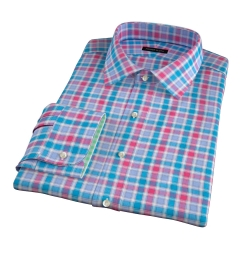 Hibiscus Large Multi Check Men's Dress Shirt