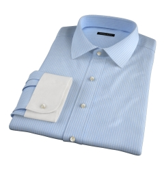 Waverly Light Blue Check Men's Dress Shirt