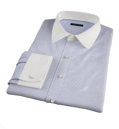 Carmine Grey Horizontal Stripe Dress Shirt