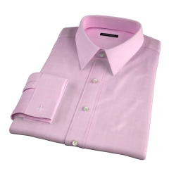 Thomas Mason Pink Prince of Wales Check Men's Dress Shirt