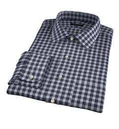 Albiate Light Grey Melange Plaid Custom Dress Shirt